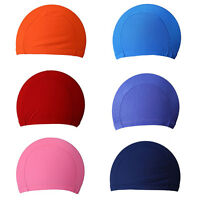 Easy Fit Adult Swimming Hat Cap Swim Mens Womens Unisex Nylon Spandex Fabric