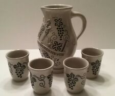 German Stonewear Pitcher with 4 cups Wick Werke Made in Germany