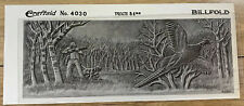 Vtg Craftaid Billfold Wallet Leather Craft Template 4030 Pheasant Hunting Dog