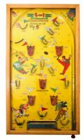Light up!! RARE VINT 1930'S POOSH M-UP JR BIG 5 PINBALL BAGATELLE ELECTRIC GAME