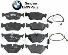 For BMW E36 318i 323i 325i Pair Set Of Front & Rear Brake Pads & Sensors Genuine