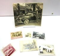 Vintage Old Black White Picture Photo Lot Men Posing Cars Hudson Steam Carriage