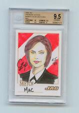 "JAG 2006 Catherine Bell Color Sketch 25/40 SP ""Mac""  John Czop BGS 9.5 Gem Mint"