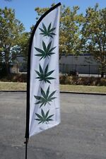 ***SALE***CANNIBUS LEAF  FLAG 6FT WITH POLE