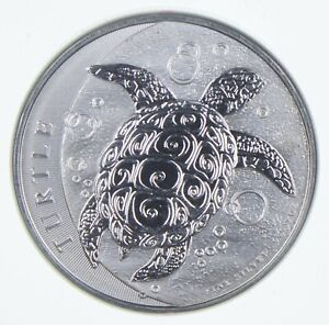 2015 Niue 5 Dollars 2 Oz Silver Hawksbill Turtle World Silver Coins Better *700
