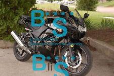 Black Fairings + Tank Cover Fit Kawasaki Ninja 250R EX250 2010 2008-2012 22 A4