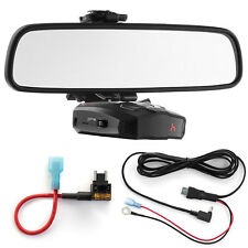 Mirror Mount Bracket + Direct Wire Power Cord + Micro Fuse Tap for Cobra