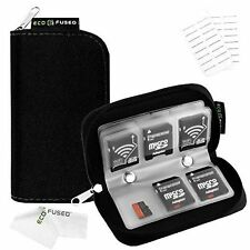 Memory Micro SD Sim Cards Case Zipper Carrying Holder Storage 22 Slots Protected
