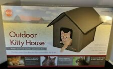 K & H  Outdoor Kitty House / Water Resistant tough & Durable Olive Green NIB
