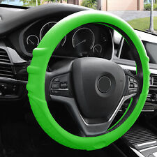 Green Silicone Steering Wheel Cover for Auto Car SUV Universal Fitment