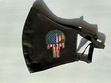 New listing Old Glory Flag Punisher Skull Logo Black Face Mask Ant-Pollution Re-usable Usa