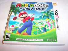 Mario Golf World Tour (Nintendo 3DS) XL 2DS Game w/Case & Insert