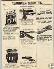 1965 PAPER AD Western Brand Hunting Knife Knives Store Display Counter Stand