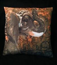 Elephant Cushion Cover  Throw Pillow 18inch 45x45cm Picture Both Sides