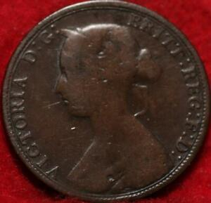 1863 Great Britain 1/2 Penny Foreign Coin
