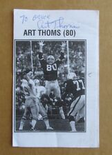 ART THOMS OAKLAND RAIDERS NFL FOOTBALL SIGNED AUTOGRAPH B&W RELIGIOUS PAMPHLET