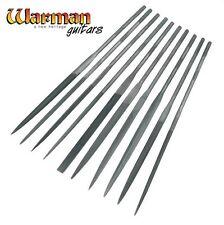 Set of 10 Diamond needle files, guitar building tools