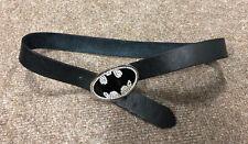 Official DC Comic Batman Rhinestone Encrusted Buckle Belt, Fits Size M (32-34)