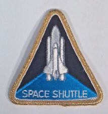 "Space Shuttle Triangle 3.25"" Patch Badge NASA Gold Thread Border"