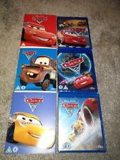 DISNEY PIXAR BLU RAY - CARS 1 AND 2 AND 3 - BRAND NEW SEALED WITH O RING SLEEVES