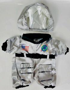 "TEDDY BEAR Silver NASA ASTRONAUT Costume CLOTHES Fit 14-18"" Build-a-bear !!NEW!!"