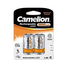 2 Accus Piles rechargeables LR14/C 3500mAh CAMELION