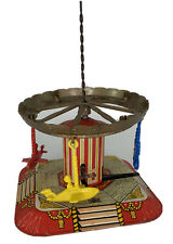 Mettoy playthings carousel toy Vintage Tin Litho Wind Up Works Great Britain