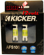 Kicker AFS100 100 Amp 2-Pack Platinum-Plated AFS Fuses with Color Coded Casing