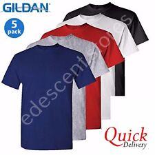 5 Pack Gildan Plain Blank 100% Heavy Cotton T-shirt Tshirt Multi Colours Lot