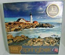 2012 LIGHTHOUSE - PORTLAND HEAD, MAINE Springbok 1000 pc Jigsaw Puzzle NIB