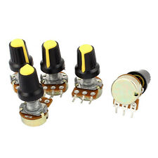 5pcs 10K OHM 3 Terminal Linear Taper Rotary Audio B Type Potentiometer