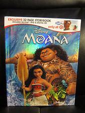 Moana Blu-Ray DVD Digital HD Story Digibook Target Sealed Mint Disney Classic