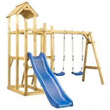 AX Giochi bambini Scivolo Altalena Scala Parco 285x305x226.5cm Garage new 279063