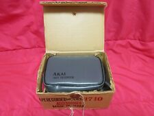 Akai Model 1710 Vintage Reel Tape Recorder Accessories with Case - Microphones