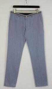 M /& S Homme Super Léger Reg Fit Pantalon Chino-Bleu Marine-W40 L31-Bnwt