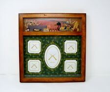 """Rivers Edge Products 3D 5 opening wooden picture Frame duck riffle 13.5""""x13.5"""""""