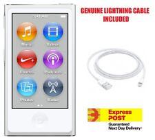 New Apple iPod nano 7th Generation Silver (16 GB) + Genuine Lightning Cable