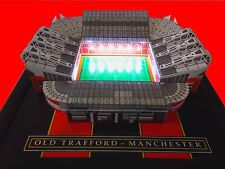 MANCHESTER OLD TRAFFORD  MODEL STADIUM WITH WORKING FLOODLIGHTS