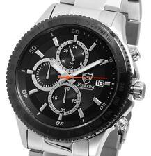 Herren Armbanduhr Chronograph Schwarz/Silber Edelstahl 291021000011 von PIERRINI