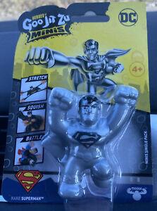 Heroes of Goo Jit Zu DC Minis- Rare Silver Superman