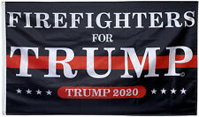 Firefighters for Trump flag Trump 2020 3x5ft banner US Shipper