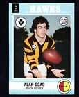 1977 SCANLENS CARD - ALAN GOAD (HAWKS) (NEAR MINT)