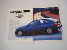 advertising Pubblicità 1994 BMW 318 ti COMPACT