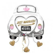 "S/SHAPE:JUST MARRIED WED CAR FOIL BALLOON XL - 23""/58CM W X 31""/79CM H"