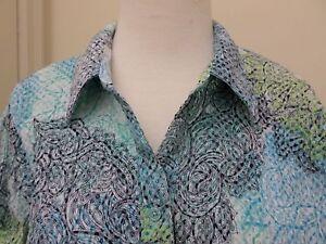 Christopher Banks Blouse Top Size Petite PL Short Sleeve