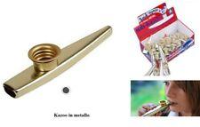kazoo in metallo cromato con membrana in ABS intercambiabile sub-kazoo