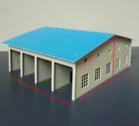 1:87 HO Scale Outland Scene Garage Model Train Garage Fire Truck Car Warehouse