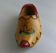 Vintage Wooden Decor Clog Holland Hand Carved Painted