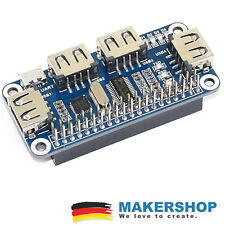 Waveshare 4-Port USB Hub Shield für Raspberry Pi, Zero & W - 12694