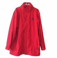 Authentic Bunnings Staff Jacket - Red With Reflective Strips Adult Size 2XL
